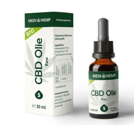 CBD oil Medihemp raw 30 ml 1500 mg CBD