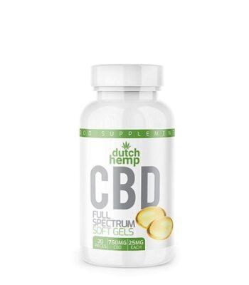 CBD capsules - Dutch Hemp - 30 piece - 750 mg CBD