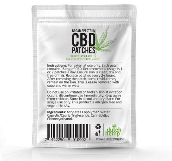 Dutch Hemp CBD-patches 450 mg CBD 2